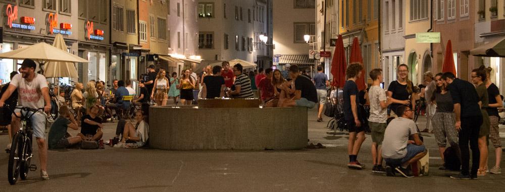 Party auf der Steinberggasse